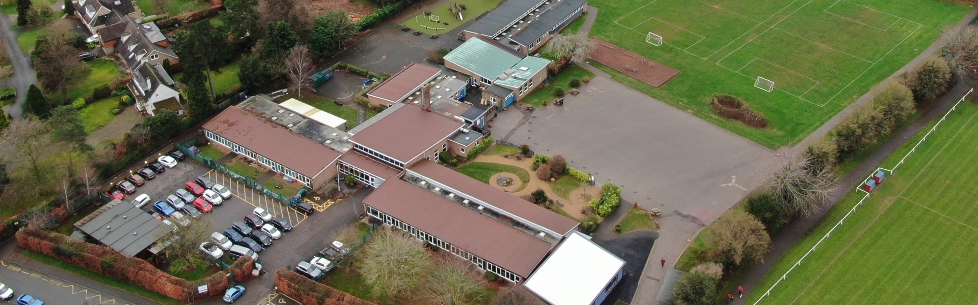 Aerial Shot of School 2020