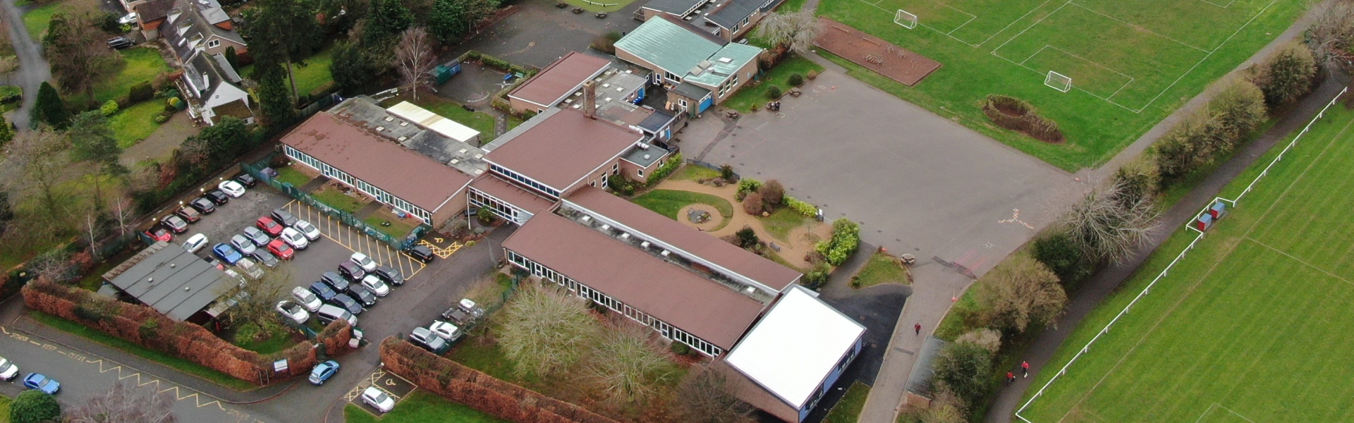 Aerial Shot of School